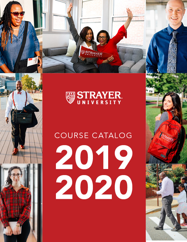 Strayer University 2019-2020 Catalog Cover